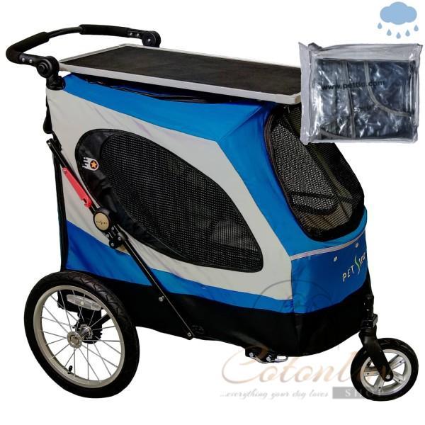 PETSTRO Stroller SKYLINE 701GX-IB Tisch / Regenschutz Indigo Blau