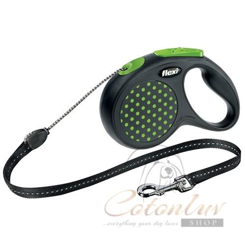 flexi Leash Design S Cord 5m - Green