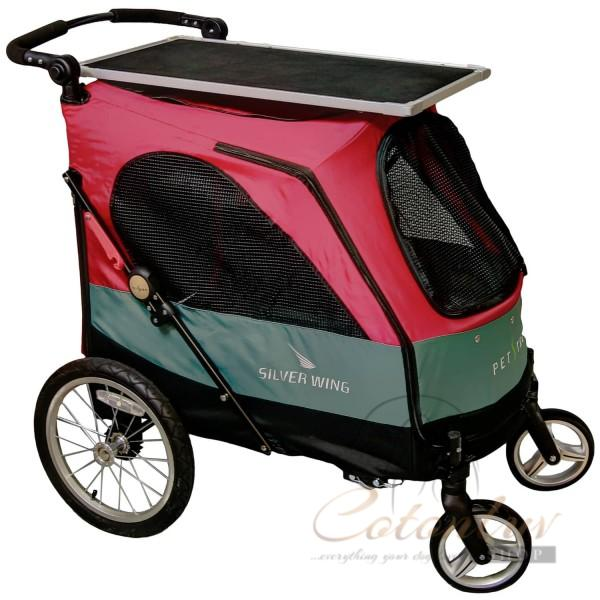 PETSTRO Stroller SILVER WING 705GX-DR Table Dark Red
