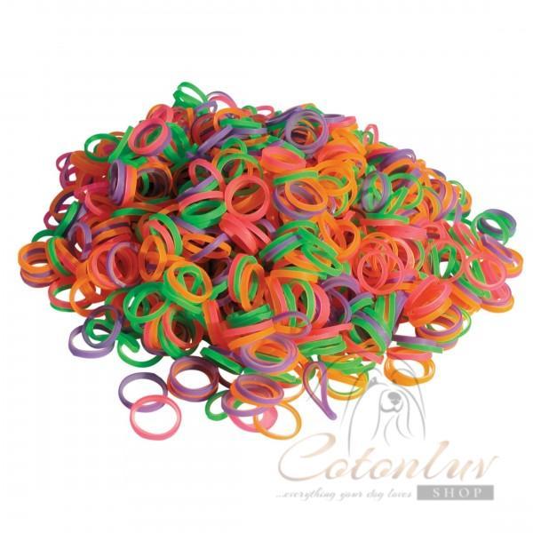Show Tech Latex Bands Neon Medium - Top Knot Bands - 100 pcs.