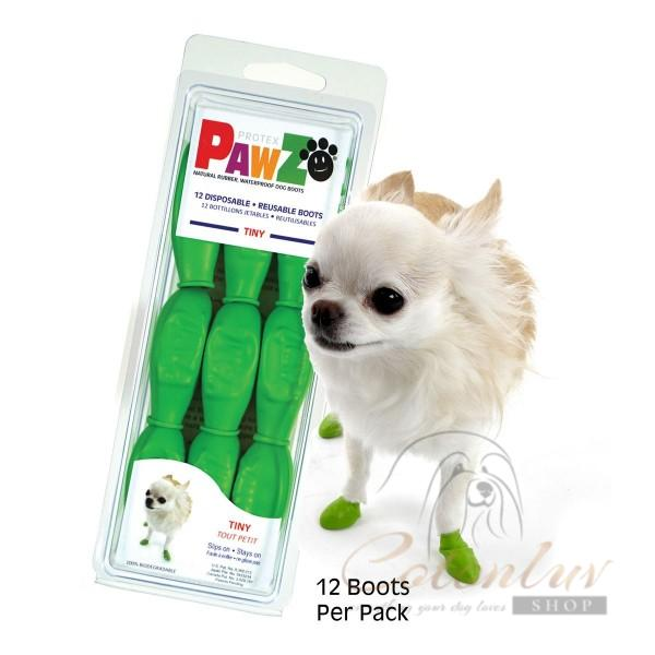 PawZ Dog Boots TINY Apple Green 2,5cm Rubber Boots