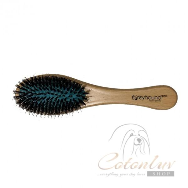 GREYHOUND NATURAL BOAR BRISTLE & NYLON BRUSH Small