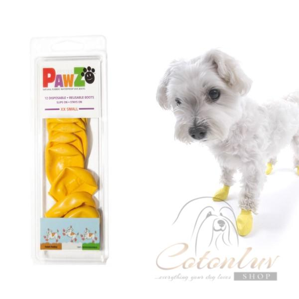 PawZ Dog Boots XXS Yellow 3,8cm Rubber Boots