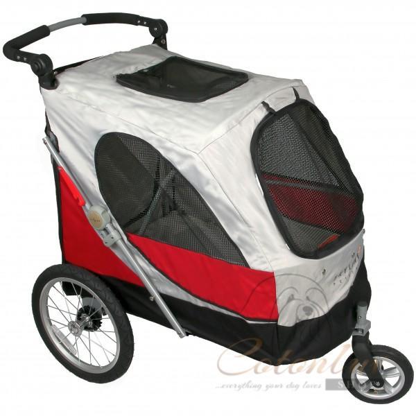 PETSTRO Stroller SKYLINE 701GX - Red Grey